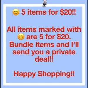 Other - 😊 5 items for $20!!! Happy Poshing!!